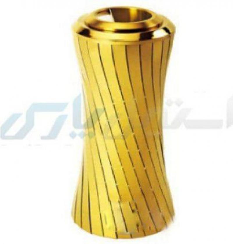 سطل زباله استیل طلایی