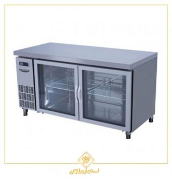 یخچال میز کار در شیشه ایی لاسله مدل Lassele LGRT 2B 1500