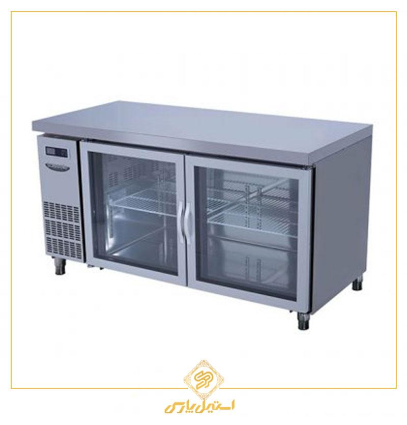 یخچال میز کار در شیشه ای لاسله مدل Lassele LGRT 2B 1200