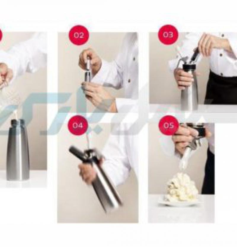 کپسول دستگاه گل خامه زن دستی