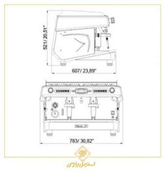 اسپرسوساز رویال دوگروپ نیمه اتوماتیک ویتوریو مدل Royal VITOR